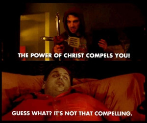 The Exorcism of Jonah Hill, from This Is The End. So. F-ING. Funny.