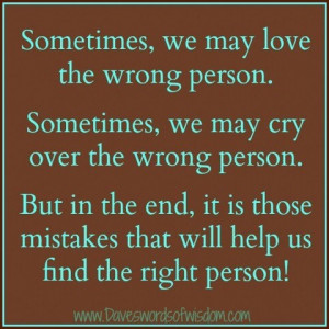 Love the wrong person