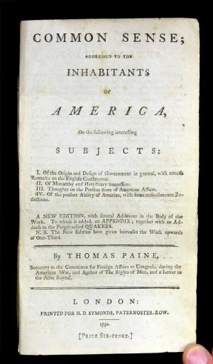 Common Sense Thomas Paine Quotes Thomas paine -- common sense
