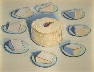 Wayne Thiebaud Around the Cake 1962 oil on canvas