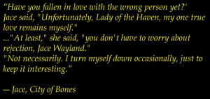 Jace Wayland- The City of Bones By Cassandra Clare. Another reason why ...