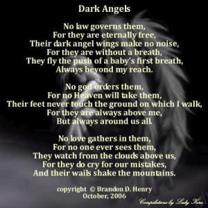 dark angels poem