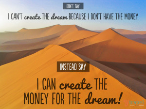 ... money for your travel dreams AND many ways you can save money while