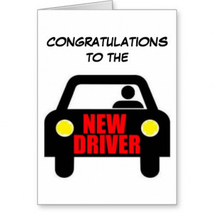 Funny New Driver Quote Cards