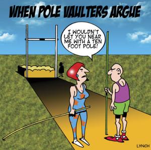 Cartoon: fighting pole vaulters (medium) by toons tagged pole,vaulting ...