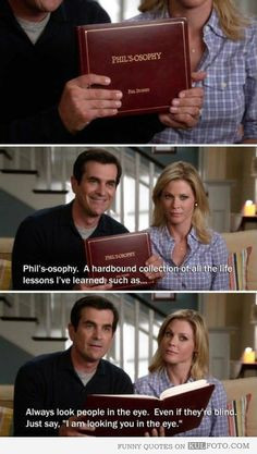... quote from Modern Family by Phil Dunphy reading from his