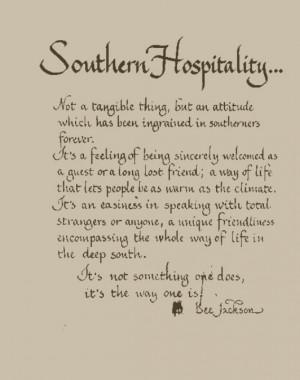 Southern Hospitality...