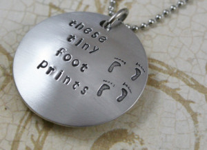 Custom Miscarriage Memorial Jewelry Aluminum Domed Front and Cupped ...