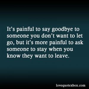 Goodbye Love Quotes Say goodbye