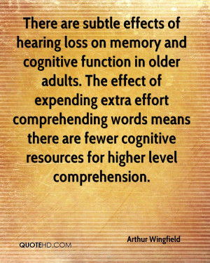 There are subtle effects of hearing loss on memory and cognitive ...