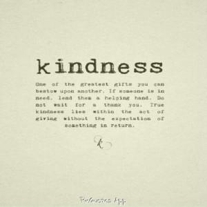 True definition of kindness