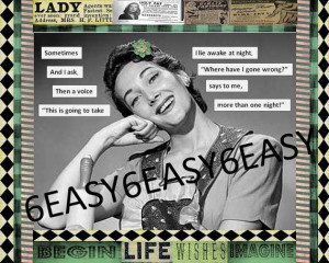 Original collage Humor Mature Sarcastic quote Work of Canvas Art Retro ...