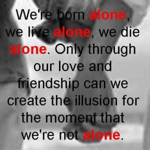 born alone Image
