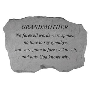 Grandmother No Farewell Words Were Spoken, No Time To Say Goodbye, You ...