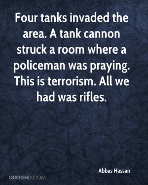 Four tanks invaded the area. A tank cannon struck a room where a ...