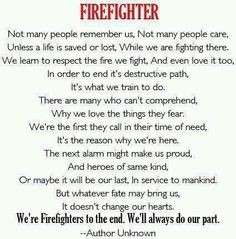 Firefighter quote. More
