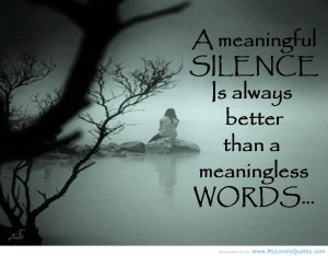 Silence Quotes About Love Quotesgram