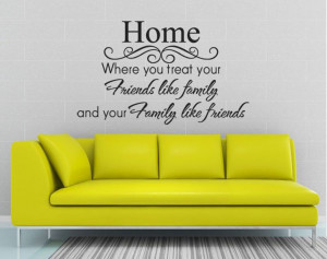 ... Quotes-Saying-Home-Family-Like-Friends-Wall-Decor-Sticker-Letter-Vinyl