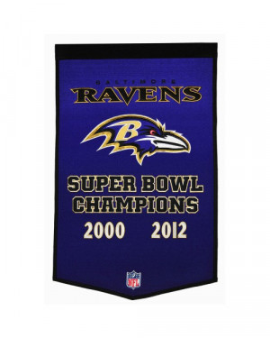 Baltimore Ravens Dynasty Banner - NFL Banners and Pennants - Other NFL ...