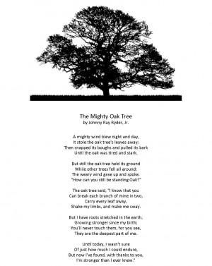 the oak tree the oak tree poem