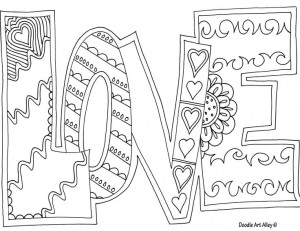 Love You Coloring Pages for Adults