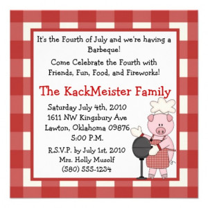 4th_of_july_bbq_invite_party_fun_cute_pig_picnic ...