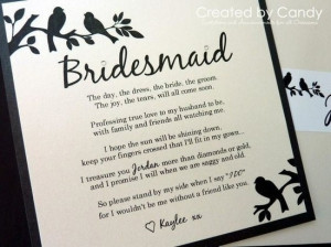 cute poem to ask a bridesmaid