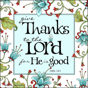 ART PRINT... Give Thanks to the Lord... 7x7 or 10x10 Scripture Bible ...