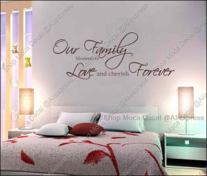 Our Family Love Forever Quote Home Decoration Removable Wall Decal ...