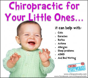 Chiropractic for kids! Get them checked, it could benefit you both!