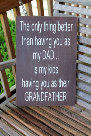 Dad Grandfather wood sign, Fathers Day Gift, Gift for Dad, Dad Sign ...