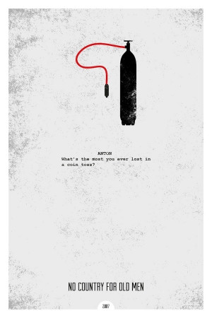 made a series of minimal movie posters with iconic quotes. The quotes ...