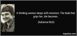 thinking woman sleeps with monsters. The beak that grips her, she ...