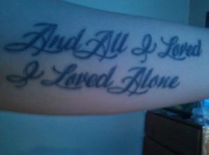 Edgar Allan Poe quote tattoo