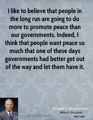 like to believe that people in the long run are going to do more to ...