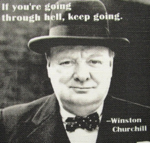 WINSTON CHURCHILL QUOTE - Printed Patch - Sew On - Vest, Bag, Backpack ...