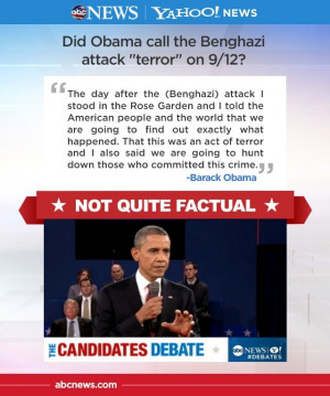 FACT CHECK: Moderator Candy Crowley is right that Obama called the ...