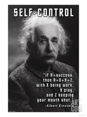 Self-Control, Einstein Premium Poster
