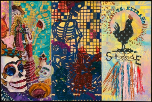 Miss You / Te Extraño 2010, triptych, oil on canvas, mixed media ...