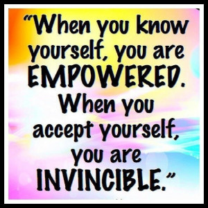 when you accept yourself
