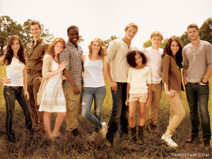 ... , Cato, Rue, Peeta Mellark, Katniss Everdeen, and Gale Hawthorne