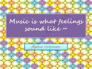 Posters Love of Music Famous Quotes in Color from Love Our History on ...