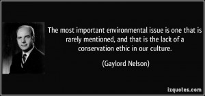 The most important environmental issue is one that is rarely mentioned ...
