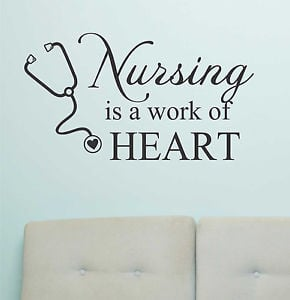 ... -Wall-Lettering-Quotes-Nursing-is-a-work-of-Heart-Medical-Nurse-Decal