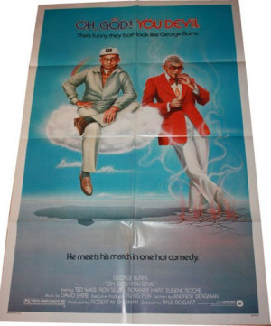 ZZB063 - Huge Oh God! You Devil with George Burns Movie Poster