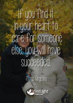 Caring is success #caregiver #quotes More