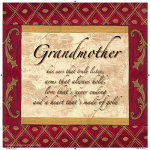 ... › Inspirational › Words to Live By, Traditional - Grandmother