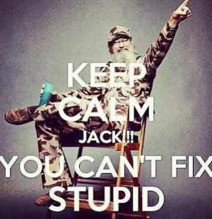 You can't fix stupid!!!!