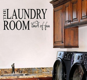 Laundry Room Vinyl Wall Decal - Wall Quote VInyl Lettering Decal ...