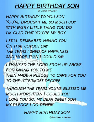 Happy 7th Birthday To You Son